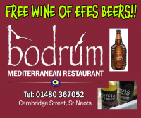 Free Wine or Efes Beer - The Bodrum Restaurant St Neots